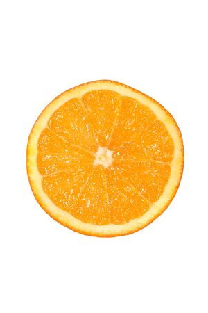 Fresh Orange isoliert auf weiß Lizenzfreie Bilder