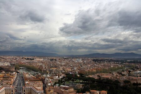 Panorama of Rome from a roof of a cathedral of st. Peter Stock Photo - 16651723