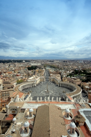 Panorama of Rome from a roof of a cathedral of st. Peter
