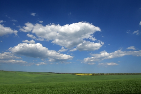 Beautiful farmlands with lovely clouds. Stock Photo - 16025001