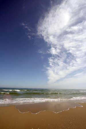 clear waters: calmed sea in an empty beach