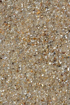 Sea sand in a sunny day close up