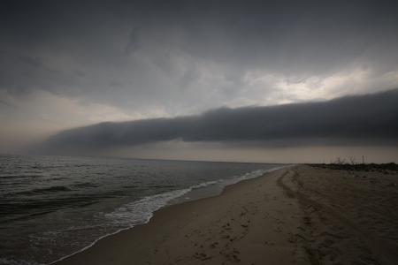 Terrible clouds of a bad weather on seacoast Stock Photo - 16023181