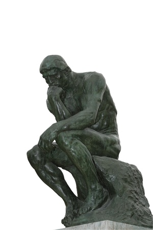 Rodin sculpted The Thinker Stock Photo
