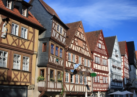 Old houses in Germany, Ochsenfurt Stock Photo