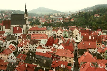 Fine view of an old city Cesky Krumlov Stock Photo - 16023883