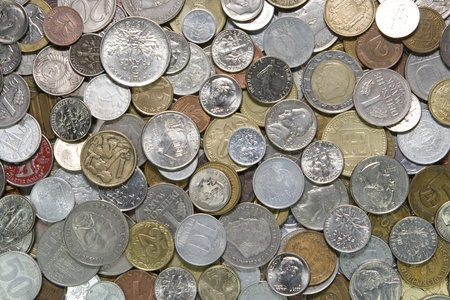 Coins background Stock Photo
