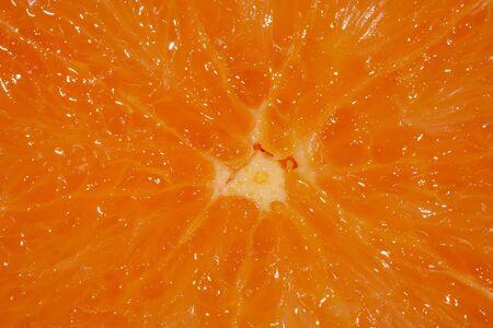 Slice of an orange close up photo