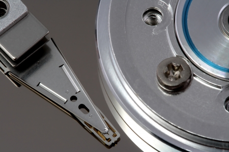 Hard disk detail  to accentuate the coldness of technology Stock Photo - 16022195
