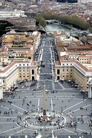 the bigger picture: Panorama of Rome from a roof of a cathedral of st. Peter