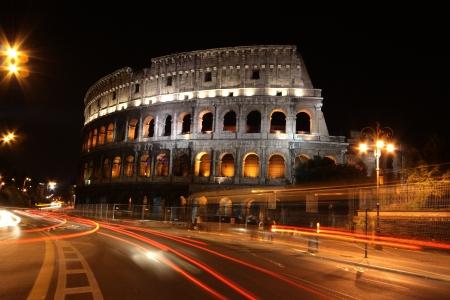 Ruinen der Collosseo einer römischen Anlage für Unterhaltung Lizenzfreie Bilder