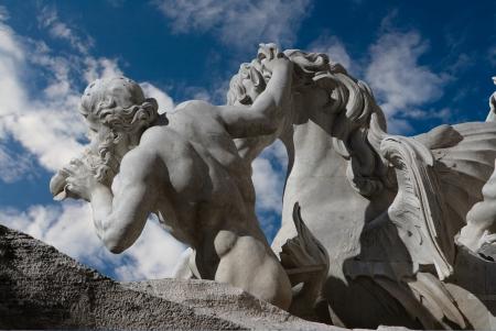 Art von Brunnen Trevi auf dem römischen Gebiet Lizenzfreie Bilder