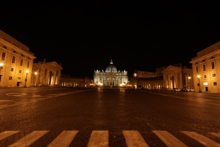 View of a cathedral of St. Peter from at night.  Stock Photo - 16027538