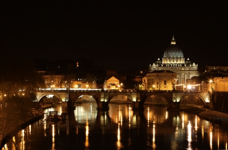Kind of a cathedral of St. Peter from at night.  Stock Photo - 16027430