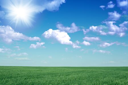 Beautiful farmlands with lovely clouds.  Stock Photo - 16022323
