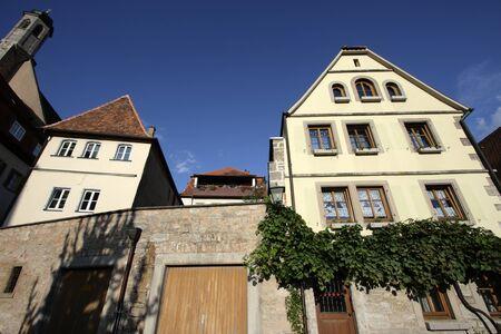 Alte H�user in Deutschland, Rothenburg Lizenzfreie Bilder
