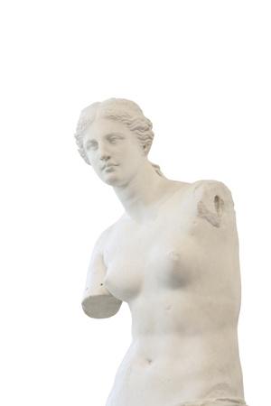 Portrait of Venus de Milo,  Greek statue in Louvre, Paris