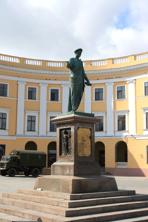 Monumen Duk d'Richelieu in Odessa Lizenzfreie Bilder