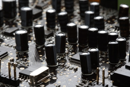 chips and trasistors on board Stock Photo - 16024596