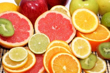 Slice of an orange close up