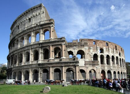 Colosseum Amphitheater in Rome, Italy. Stock Photo - 16102193