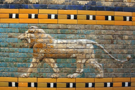ishtar gate of babylon: Ishtar Gate Stock Photo