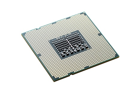 The processor Intel close up on white Stock Photo - 16098112
