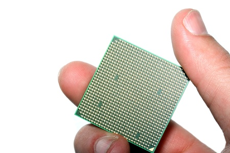 The processor Intel close up in hands