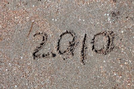 Neuen Jahr 2010 auf Sand