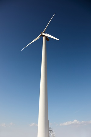 windpower: windpower generator on blue sky