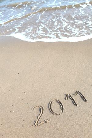 New 2011 Jahre auf Sand