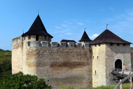 Alte Festung am Ufer des Dnjestr, Khotyn, Ukraine.