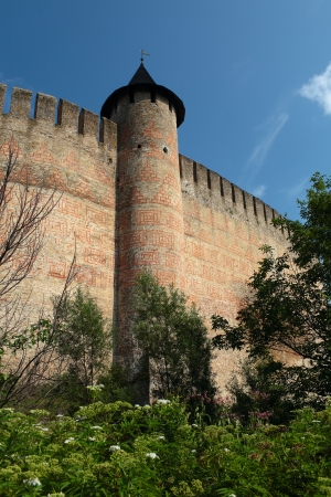 Alte Festung am Ufer des Dnjestr, Khotyn, Ukraine. Standard-Bild - 22049471