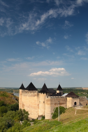 Ancient Fortress on the banks of the Dniester, Khotyn, Ukraine. Editorial