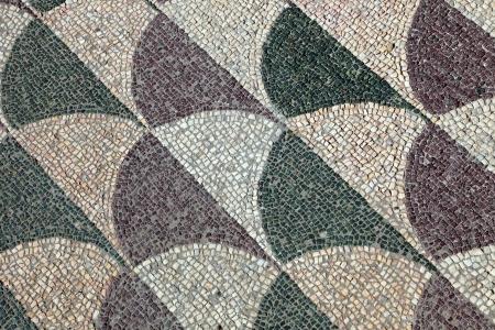 Mosaics on the floor, Baths of Caracalla, Rome, Italy photo