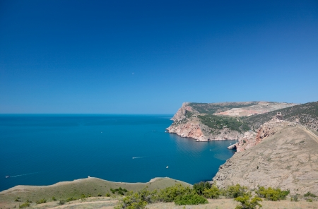 Beautiful views of the Mediterranean coast. photo