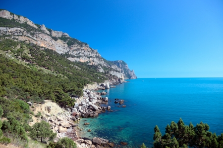 Beautiful views of the Mediterranean coast.