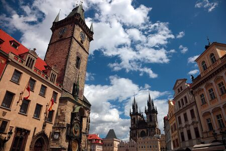 czech culture: Prague, Old Town Square Stock Photo
