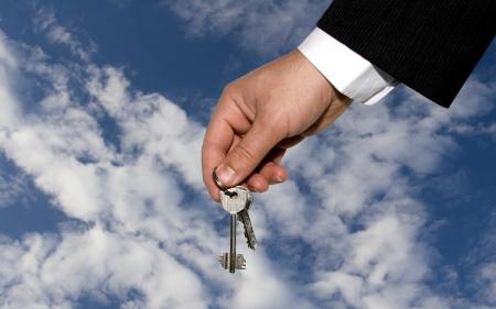 Man's hand and Keys