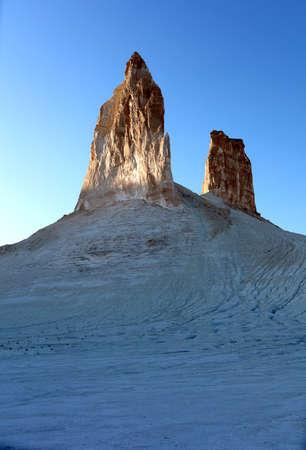 Mount Bokty, Western Kazakhstan, Ustyurt plateau, dried-up bottom of the ancient sea.