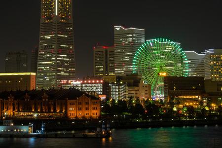 lightup: Night view of Minato Mirai, Yokohama Japan