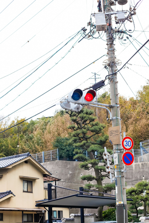 one lane: Two light signals.