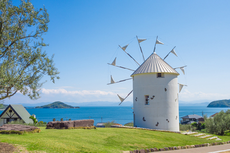 Shodoshima olive park Greece windmill