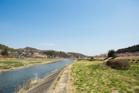ridgeline: Spring Abukuma River