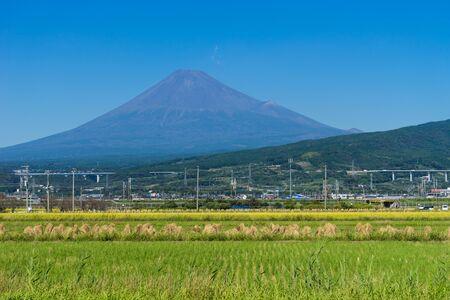 heaping: Mt.Fuji and Rural scenery, Japan