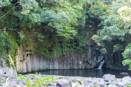 columnar: Sheer cliff of Keigajima Valley