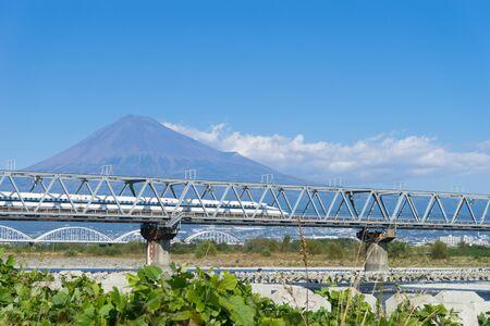 bullet train: Mount Fuji and bullet train, Shizuoka Japan