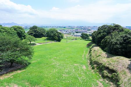 Kokokuji 城の本丸フィールドワーク 写真素材 - 63030157