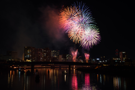 fireworks display: Kano River fireworks display  Numazu summer festival