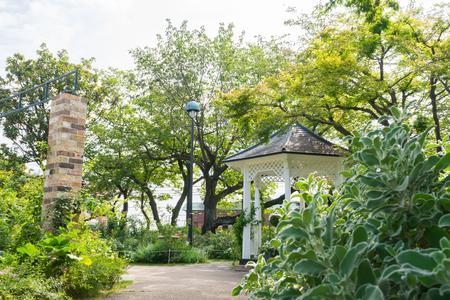 oka: Garden of Minato-no-mieru Oka Park Stock Photo